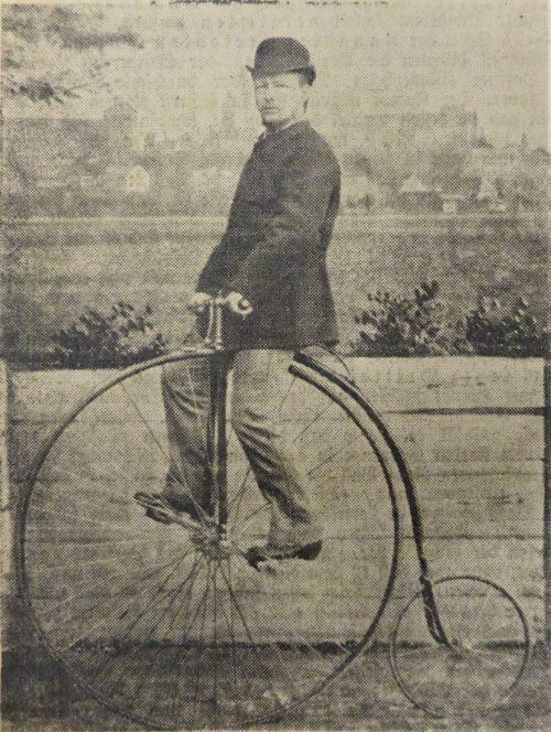 Der erste Radfahrer in Nürnberg, Christian Joachim Vogel 1878