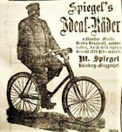 Werbeanzeige Michael Spiegel von 1899