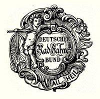 Wappen des Deutschen Radfahrer-Bundes, gegründet 1884