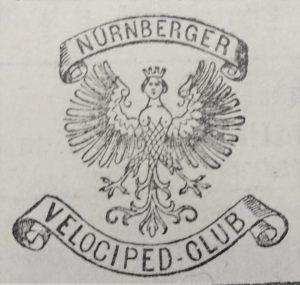 Wappen des Nürnberger Velociped-Clubs, gegründet 1881