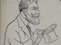 Herr Gründlich, eine Figur aus einer Werbeserie der Mars Fahrrad-Werke 1909/10