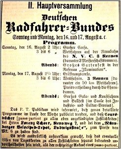 II. Hauptversammlung des D.R.-B. in Nürnberg am 16./17. August 1885