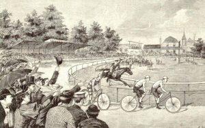 Rennen Cody gegen Fischer in München im Aug. 1894
