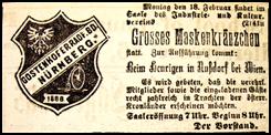 Gostenhofer Radfahrer-Bund, Einladung zum Maskenkränzchen 1901