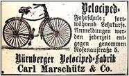 Anzeige Carl Marschütz im F.K. vom Feb. 1888