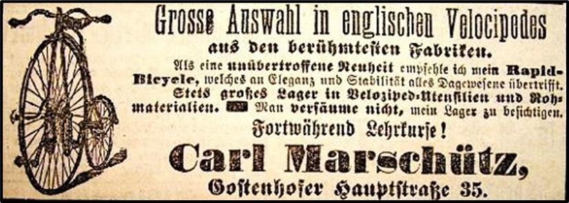 Werbeanzeige mit Kangaroo, Carl Marschütz, 1886, Nürnberg