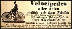 Anzeige Carl Marschütz im F.K. vom März 1887