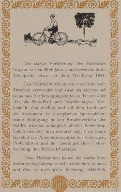 Das Fahrrad - Hercules, 1920