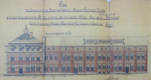 Bauplan der Sirius-Fahrrad-Werke G.m.b.H. von 1896